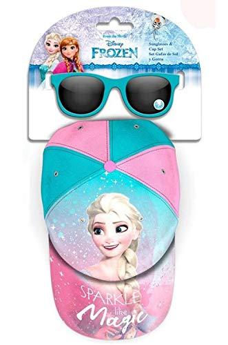 Frozen Geschenkset, Sonnenbrillen und Mütze, Sportzubehör, Unisex, Kinder, Jugend (Mehrfarbig), Einheitsgröße