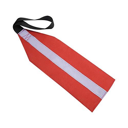 DASNTERED Bandera de seguridad Kayak Bandera de carga de seguridad Kayak, bandera de seguridad de kayak larga plegable con correas barcos de remolque altamente visible