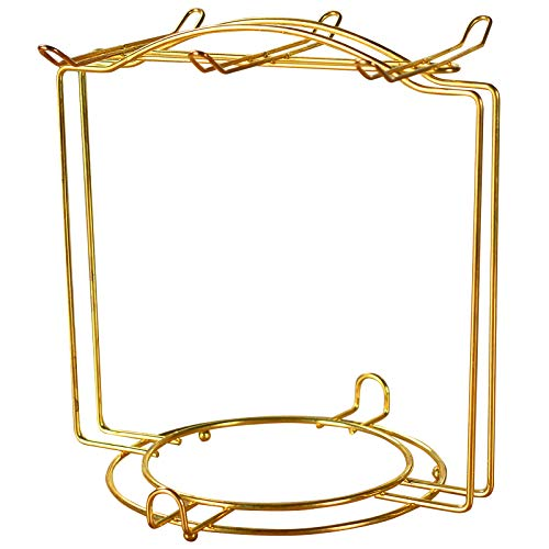 N-brand Tea Cups Rack,Metal Coffee Mug Holder Cups and Saucers Display Stand for Mugs Dishes Spoons (Gold)