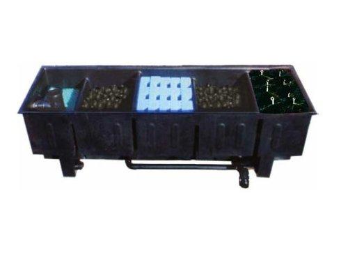 AquaForte 45000 Mehrkammerfilter Specialist, schwarz, max. Teichgröße 45m³, max. Durchfluss 12,5m³/h