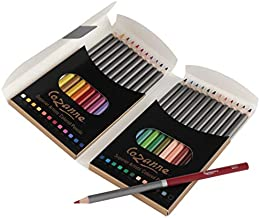 Cezanne Professional Colored Pencil Set of 24 Colors, Artist Quality Soft Core Leads for Drawing, Art, Sketching, Shading, Coloring, Layering, Blending