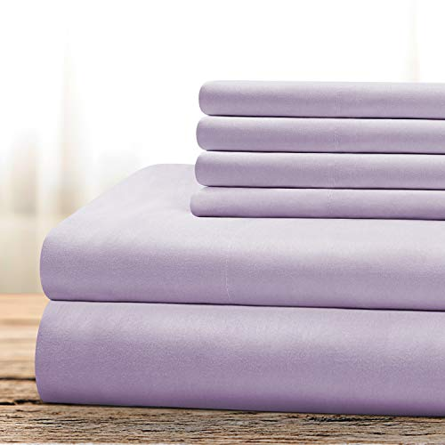 BYSURE Hotel Luxury Bed Sheets Set 6 Piece(Queen, Lavender) - Super Soft 1800 Thread Count 100% Microfiber Sheets with Deep Pockets, Wrinkle & Fade Resistant