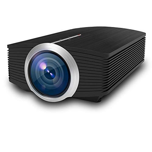 ZUEN Proyector, proyector de Lux LCD TV con Soporte de Bolsa portátil 1080P Mini proyector Multimedia portátil de película