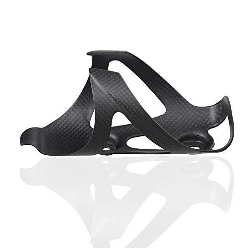 Samine Jaula para botellas de bicicleta de fibra de carbono súper ligera para ciclismo, agua brillante