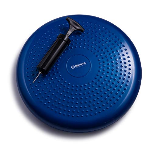 Inflated Stability Wobble Cushion, Including Free Pump / Exercise Fitness Core Balance Disc,Blue,size: 13 inches / 33 cm diameter