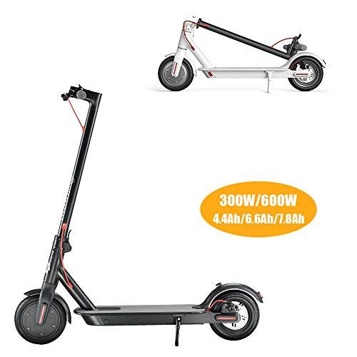 Elektrische scooter voor volwassenen, borstelloze motor, 300 W/600 W, 8,5 inch, maximale draagkracht 100 kg, stappen 45 km, opvouwbaar