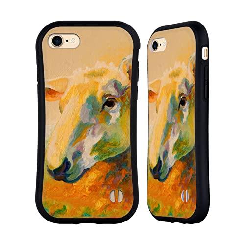 Head Case Designs Licenciado Oficialmente Marion Rose Estudio Ewe 3 Ovejas Carcasa híbrida Compatible con Apple iPhone 7 / iPhone 8 / iPhone SE 2020