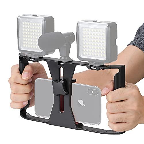 Zeadio Soporte de Video para Teléfono, Estabilizador Empuñadura, Soporte de Trípode para iPhone Samsung Huawei Sony LG Nexus Nokia y Todos los teléfonos