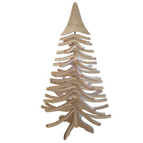 DEKO AS Tannenbaum - Holz-Dekotanne Natur - Weihnachtsbaum - Holz (Größe: 85x50 cm, Zeitloses Design, Adventskalender, Christbaum, aufstellbar in Zwei Varianten, unkomplizierter Aufbau), Natur 20085