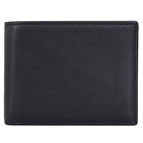 HANGYIKJ Herrenbrieftasche Casual Fashion Brieftasche aus Weichem Leder Großraum-Kartenhalter Brieftasche Multifunktions-Multi-Karten-Brieftasche Retro Kurze Brieftasche