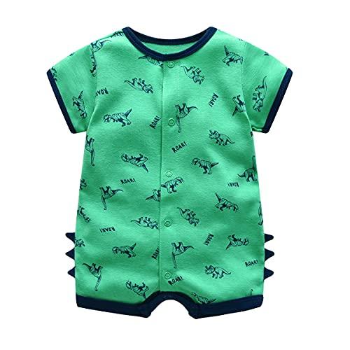 Bebé Pijama Niños Pelele de Algodón Body Manga Corta Verano Jumpsuit 3-6 Meses