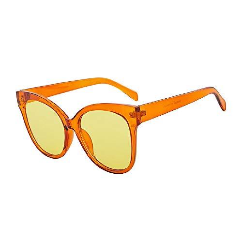 Gafas de sol retro forma de ojo de gato color transparente serie versátil Gafas de sol unisex