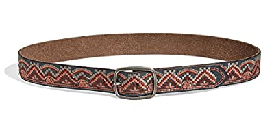 Lucky Brand Women's Chevron Embroidered Belt (Large)