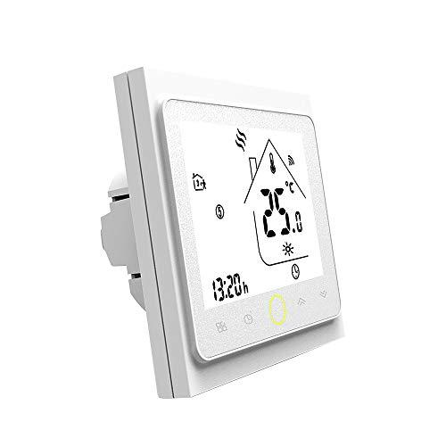 Controlador de termostato programable para el de control de la caldera termostato de encendido/apagado con pantalla lcd digital adecuado para el control de temperatura inteligente en el hogar-blanco