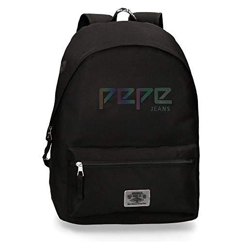 Pepe Jeans LondonOsset BackpackNiñosCarterasNegro (Black)13x30x37 centimeters (W x H x L)