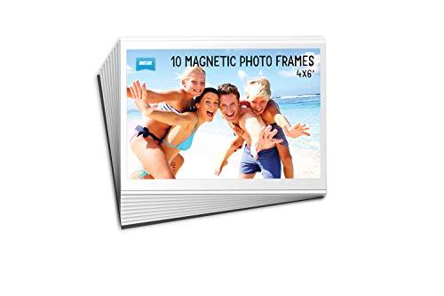 Bulk Buy - Lote de 10 marcos magnéticos para nevera (10 x 15 cm), transparente