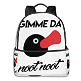 XCNGG Gimme Da Noot Noot Pingu Student School Bag School Cycling Leisure Travel Camping Outdoor Backpack