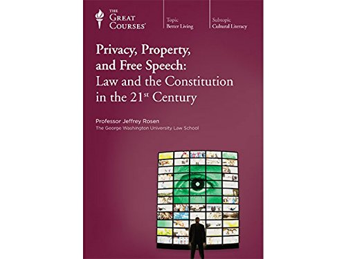 Privacy, Property, and Free Speech: Law and the Constitution in the 21st Century