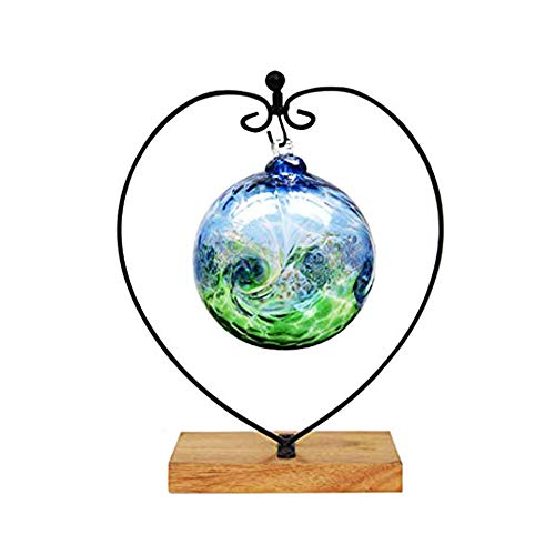 Fosinz Ornament Display Stand Wood Iron Hanging Stand Holder for Hanging Glass Globe Air Plant Terrarium, Ball, Christmas Ornament & Home Wedding Decoration (heart-square)