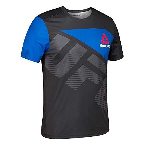 adidas Reebok UFC Official B20 (Black/Royal Blue) Fight Kit Walkout Jersey Men's