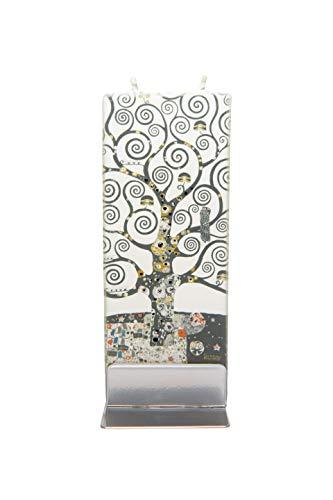 flatyz Flache besondere Kerzen Klimt - Baum des Lebens- Baum-Kerze. Handgemacht, geruchsneutral. Kerzen Lange brenndauer 3-4 Stunden, 60x10x150mm. Perfekt als besonderes Geschenk, Kerzen deko.