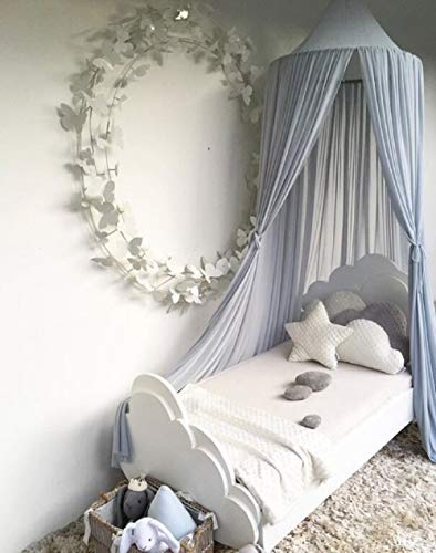Piu Fashion Bed Canopy Dream Tent Curtains and Crib Canopy for Girls and Boys Bedding Game House-Blue