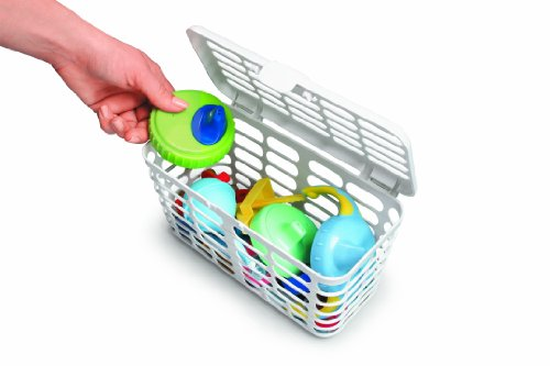 Prince Lionheart Made in USA High Capacity Dishwasher Basket for Toddlers Bottle Parts & Accessories   Fits all Dishwashers   100% Recycled Plastic