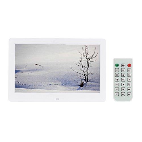"""Andoer 10.1"""" HD Pantalla Ancha Alta Resolución Marco de Foto Digital Reloj Despertador MP3 MP4 Jugador de Película con Control Remoto Regalo de Navidad"""