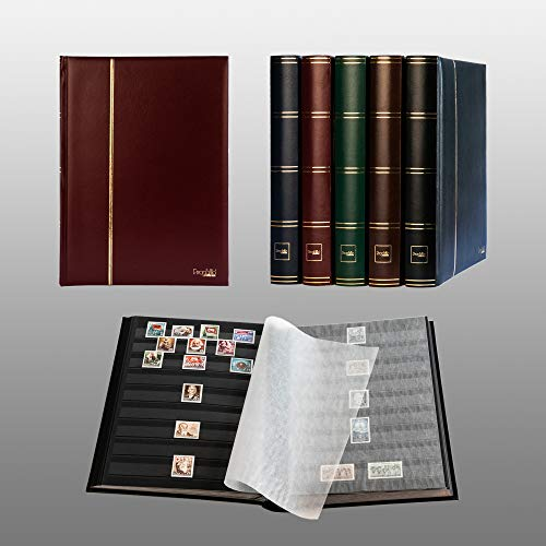 LS4//16 SG/_B004UKZS94/_US Black Lighthouse Hardcover Stamp Album Stockbook With 32 Black Pages