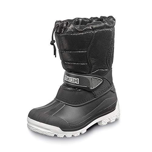 Meindl 7795 62 Snowy 3000 Jungen Winterboots aus Nylonmesh mit Thermo-Webpelz, Groesse 39, schwarz