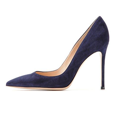 EDEFS Zapatos de Tacón para Mujer,Zapatos de tacón Alto 10 CM Navy EU37