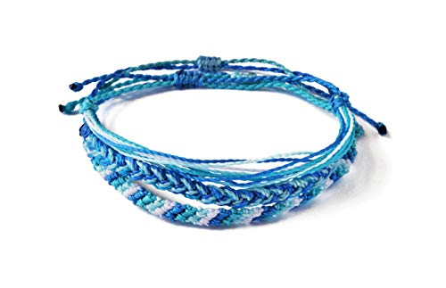 String Bracelets, Friendship Bracelets, Boho Bracelets, Best Friend Bracelet, Braided Bracelet, Thread Bracelets, Friendship Bracelets for Women, Girls, Men, Woven, Pack, Jewelry (Light Blue)