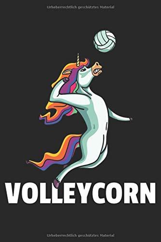 Volleyball Notizbuch: Einhorn Volleyball Notizbuch für Volleyballspieler / Notizheft / Notizblock A5 (6x9in) Dotted Notebook / Punkteraster / 120 gepunktete Seiten