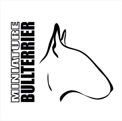 Siviwonder Auto Aufkleber Miniature Bullterrier Profil Hundeaufkleber Black