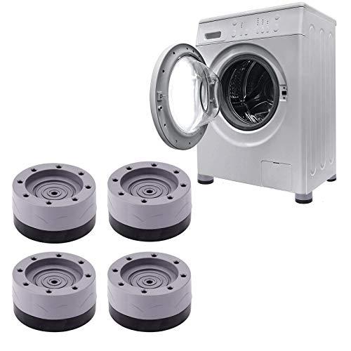 XINRUI Almohadillas para lavadora y secadora, paquete de 4 almohadillas antivibración y ruido para lavadora para frigorífico, muebles de hogar