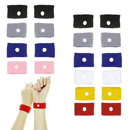 NEPAK 20 Stück Akupressur Armband gegen Übelkeit,Ideal für Schwangerschaftsübelkeit, Seekrankheit, Reiseübelkeit für Kinder und Erwachsene