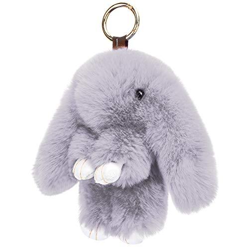 KEREDA Hase Schlüsselanhänger Taschenanhänger, Plüsch Kaninchen Auto Schlüsselring, Süße Handtasche Anhänger Dekor