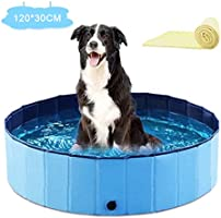 DHQH PVC Foldable Pet Dog Paddling Pool Puppy Swimming Shower Bathing Bathtub Wash Tub Water Pond Ideal for Pets...