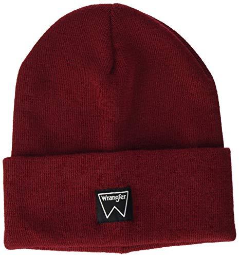 Wrangler Basic Beanie Gorro, Red, OS para Mujer