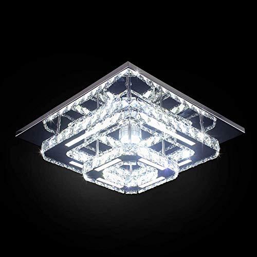 Goeco Plafoniera Lampada LED, Plafoniera Soffitto Cristallo Moderna integrati Lampada da Soffitto 36W 6000k per soggiorno Camera da letto (30cm Doppio strato)