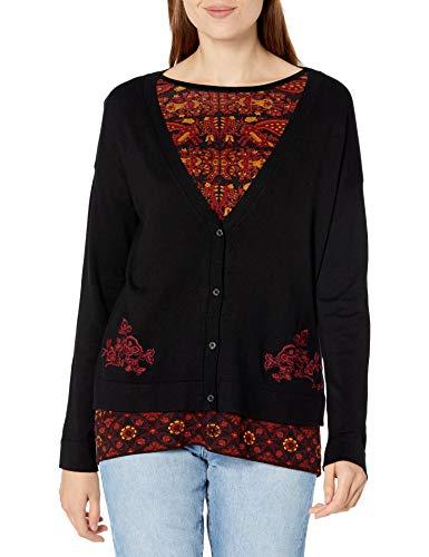 Desigual JERS_Dakota Sudadera, Negro, XL para Mujer
