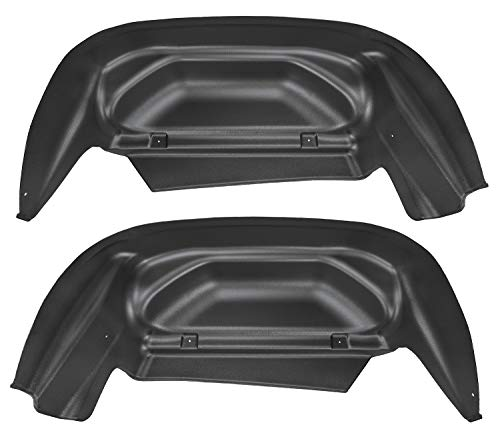 Husky Liners Fits 2014-18 Chevrolet Silveado 1500, 2019 Chevrolet Silverado 1500 LD, 2015-19 Chevrolet Silverado 2500/3500 - SINGLE REAR WHEELS Rear Wheel Well Guards,Black,79011