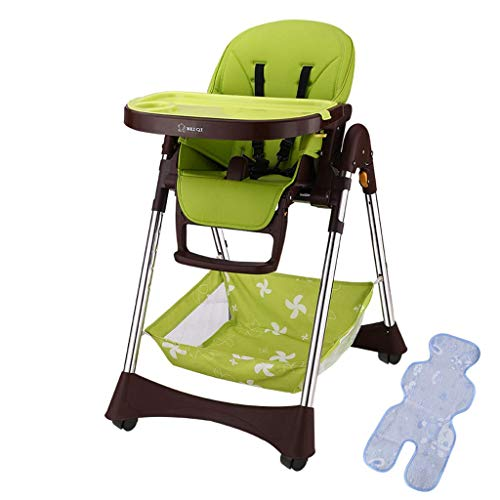 WYJW Kindereetkamerstoel Multifunctioneel Inklapbaar Draagbaar Babyzitje Baby Eten Eettafelstoel met Pulley