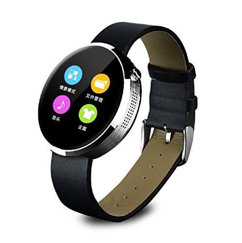 Kolylong Bluetooth Smartwatch für iOS; DM360 Puls Monitor Tracker Schwarz (IOS9 System Nicht unterstützt)
