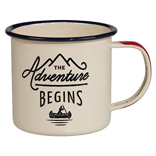The Adventure Begins Enamel Mug