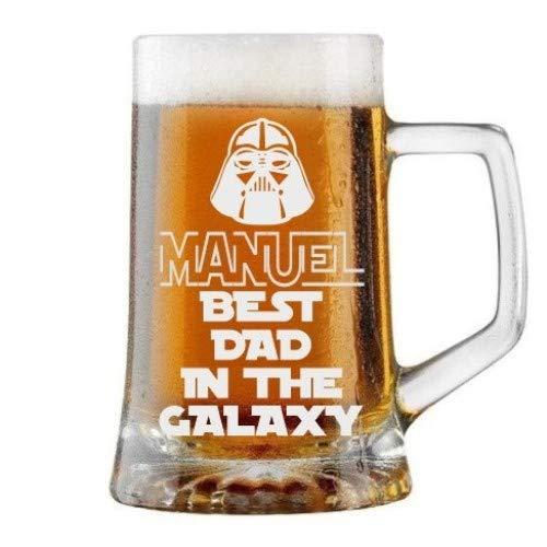 Jarra de Cerveza Personalizada Día del Padre, BEST DAD GALAXY Regalo Grabado...