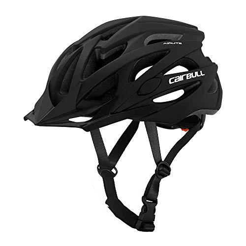Cairbull AIRLITE casco da bici da uomo e da donna MTB casco da sport ricreativo con rete per insetti, casco da bici da corsa a tesa lunga - taglia M L 2 (Nero, L)