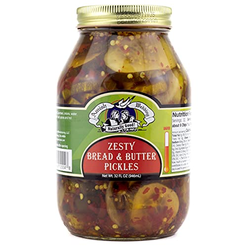 Amish Wedding Zesty Bread & Butter Pickles, 32 Ounce Jar