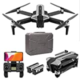 Daily Accessories Foldable Drone Brushless Motor GPS Drone with Camera for Adults 4K HD FPV Quadcopter Drones 30 Mins Flight Time 120 deg Wide Angle 90 deg ESC Level 7 Wind Resistance 2 Batteries
