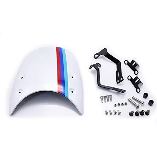 Accesorios de Motocicleta Parabrisas Parabrisas Moto en Forma for BMW R Nueve T NINET 2014-2019 Faro carenado R9T R NINET Partes de Motos (Color : White)